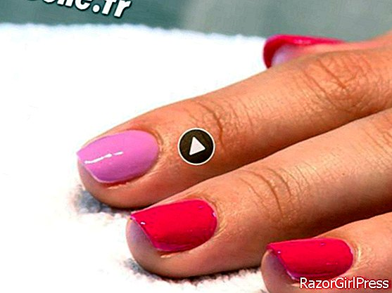 Chic, two-tone manicure (video)