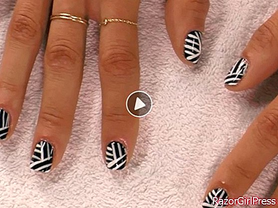 Video: graphic nail art