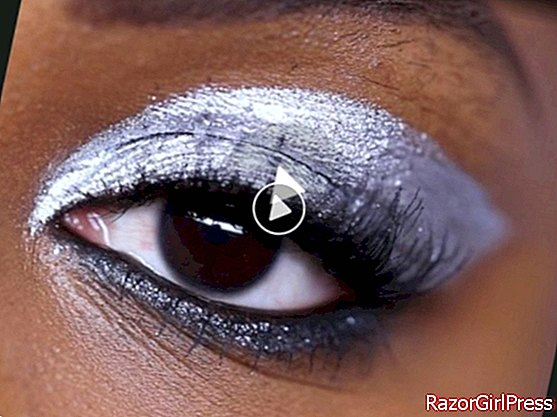VIDEO - Glamorous and rock metallic makeup for the holidays
