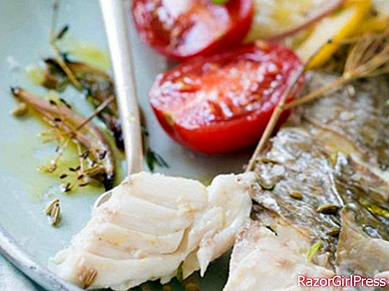 Sea bream roasted with herbs