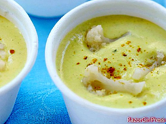 Curry Blumenkohlcremesuppe