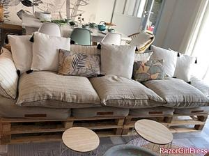 How to build a living room on a pallet?
