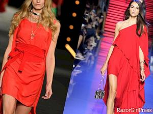 How to wear the red dress well?