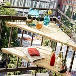 How to make a corner balcony table?