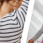 Sailor sweater with crochet hook