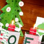 Christmas decor: cubes decorated as candle holders