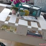 DIY: a mobile coffee table in pallets